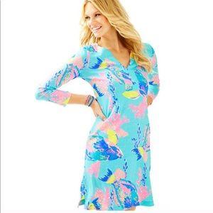 Lilly Pulitzer Aqua Riva 100% Pima Cotton Dress